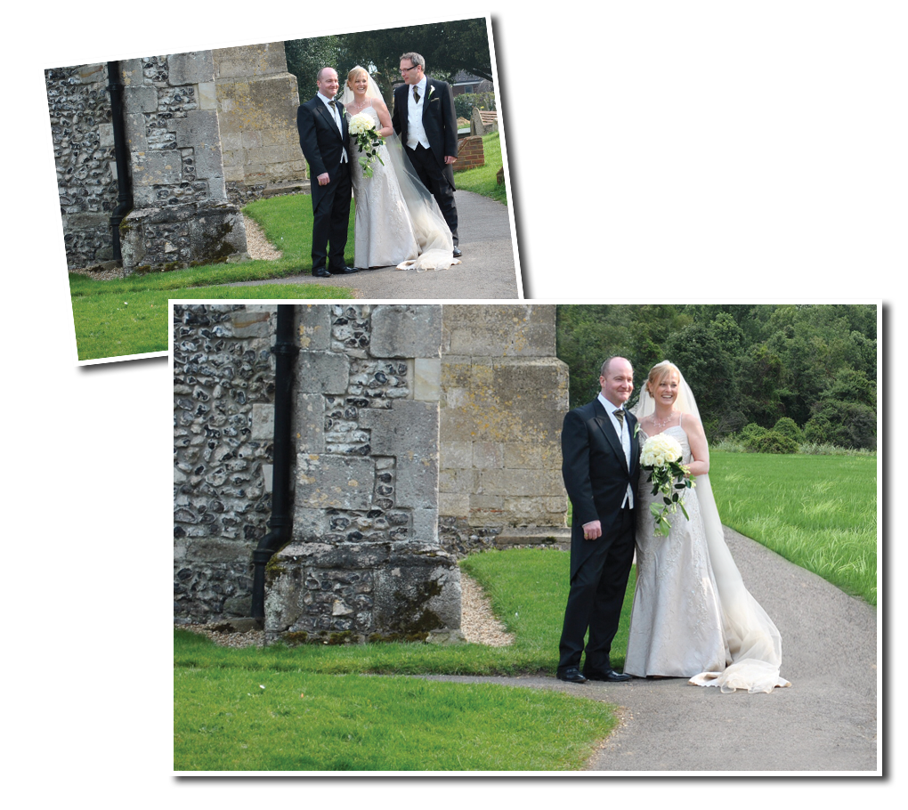 Fixing wedding photographs